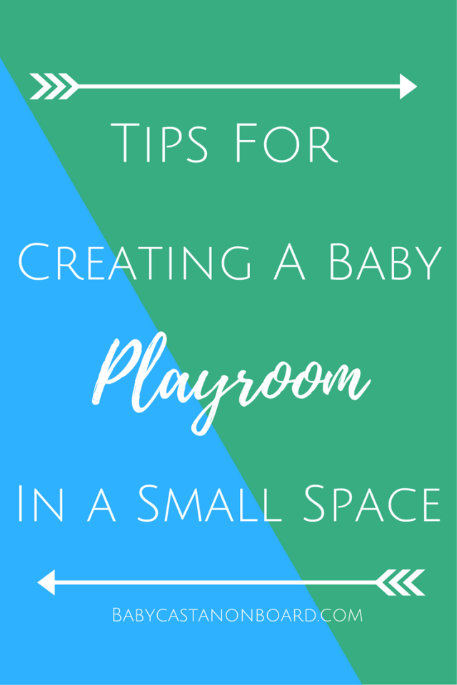 A baby comes with a lot of toys! We have been creative in our use of space and I am sharing some tips for creating a playroom in a small space.