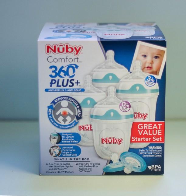 nuby-comfort-360-bottle-babycastanonboard.com - Nuby Bottles Review: Nuby Comfort 360 Plus+ Bottles by popular DC mommy blogger Baby Castan on Board