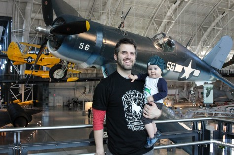 One of our favorite places to go is the Udvar-Hazy Center of the National Air & Space Museum in Virginia. It's a great place to take a newborn or toddler.