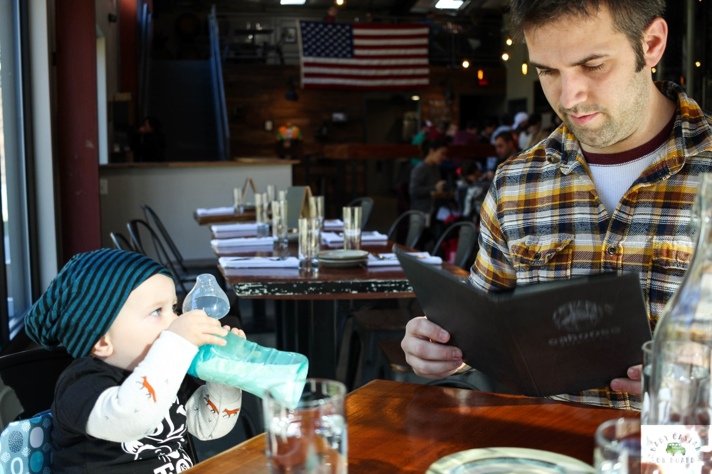 Once we were comfortable leaving the house, we basically took Aiden everywhere we went. This post includes our best tips for eating out with a baby/toddler.