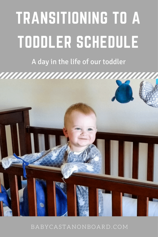 Aiden is 16 months now so his schedule is very different from what it was during the first year. Here is his new toddler schedule.
