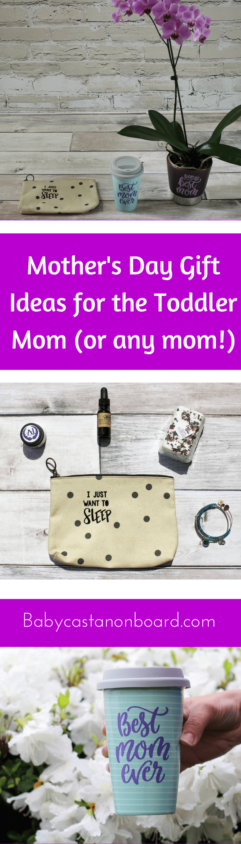 Mother's Day is right around the corner. Here are some fun gift ideas for the baby or toddler mama (or, really, any mama!)