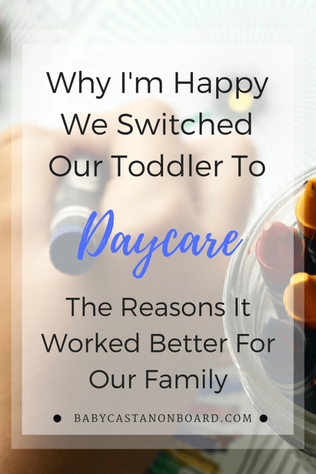 Julie from Fab Working Mom Life is sharing her experience of switching her toddler from a nanny to daycare and why it was a positive experience.