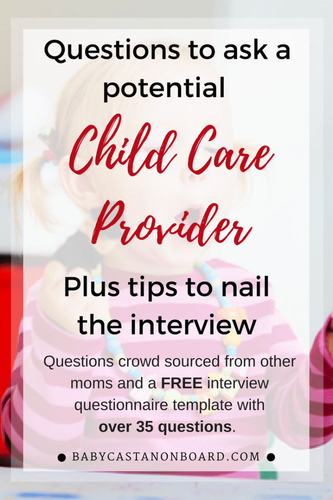 Child Care Provider Questions Pin