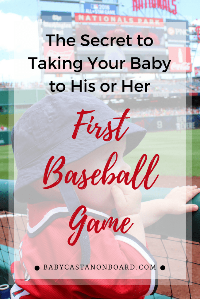 baby to his or her first baseball game pin