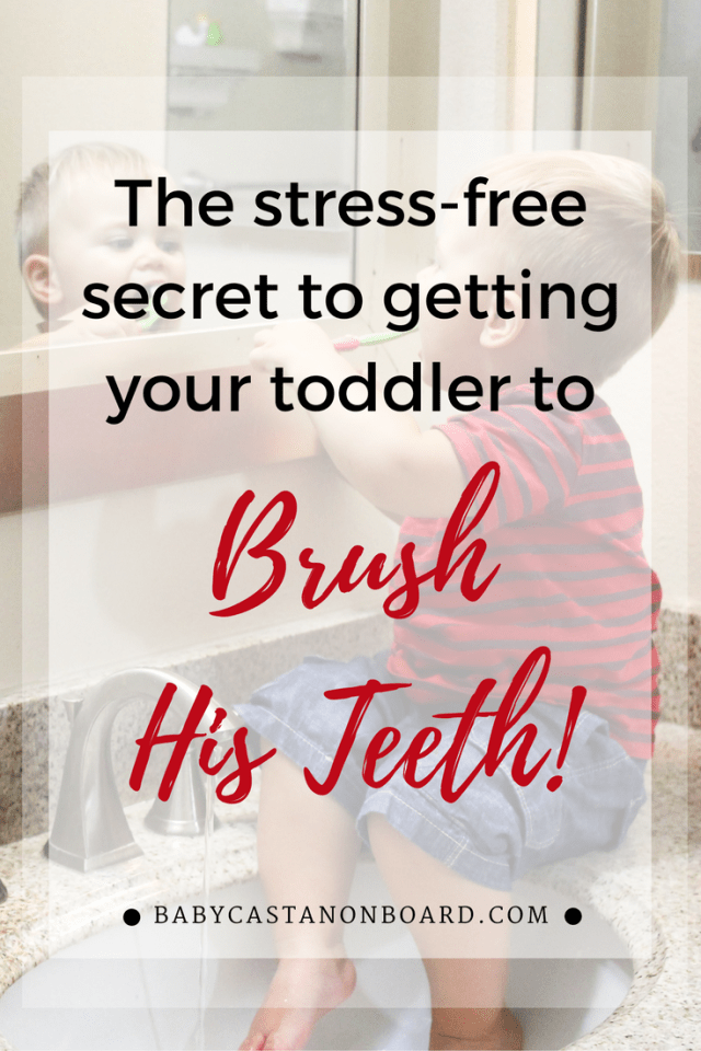 Our toddler has never liked us near his mouth so brushing teeth has been a problem -- until now. Here are tips for getting a toddler to brush his teeth. #Toddler #Momlife #Baby