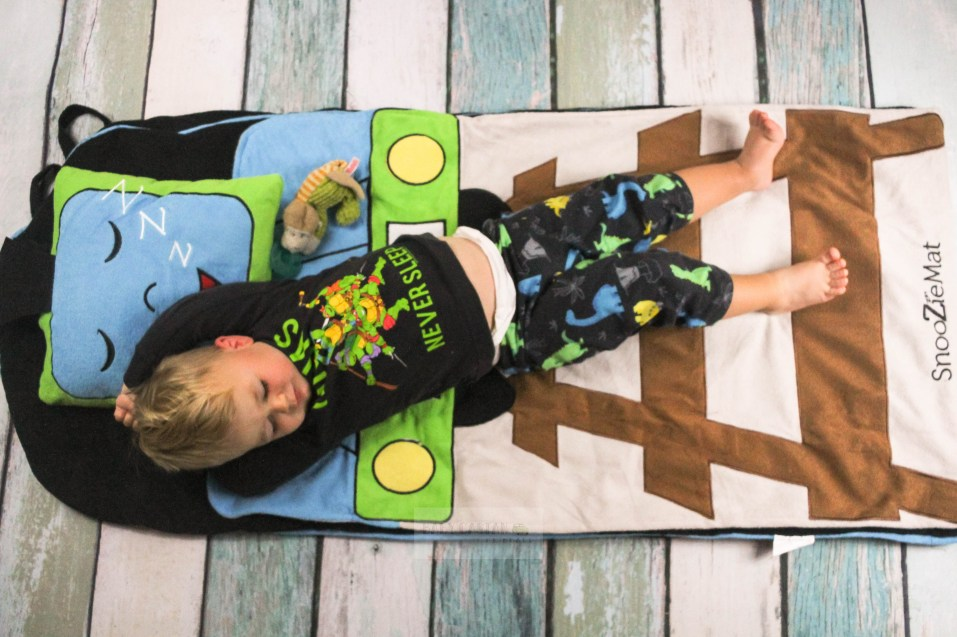 I want something comfortable and portable that my toddler can use to take naps while we are on the go.The SnooZieMat is a perfect nap-on-the-go solution. - Using the SnooZieMat for Toddlers on the Go by popular DC mommy blogger Baby Castan on Board