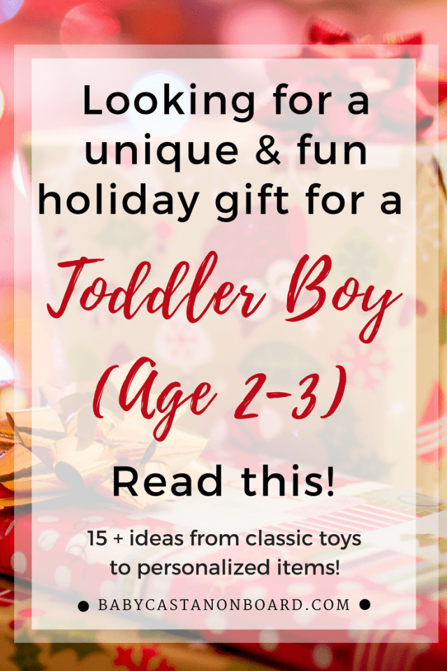 Whether you are shopping for your own toddler or giving a gift you can't go wrong with these unique and fun toddler boy gifts. #Christmas #holidays #birthday #toddler #gifts