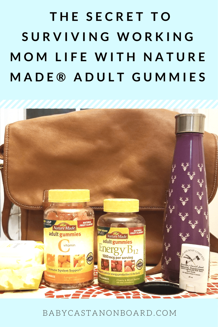[ad] This post is all about how I survive working mom life and what I include in my everyday bag including Nature Made® Adult Gummies which help keep me healthy. #AGummyYouCanTrust #NatureMade #NatureMadeAdultGummies #USP #momlife #workingmom #vitamins
