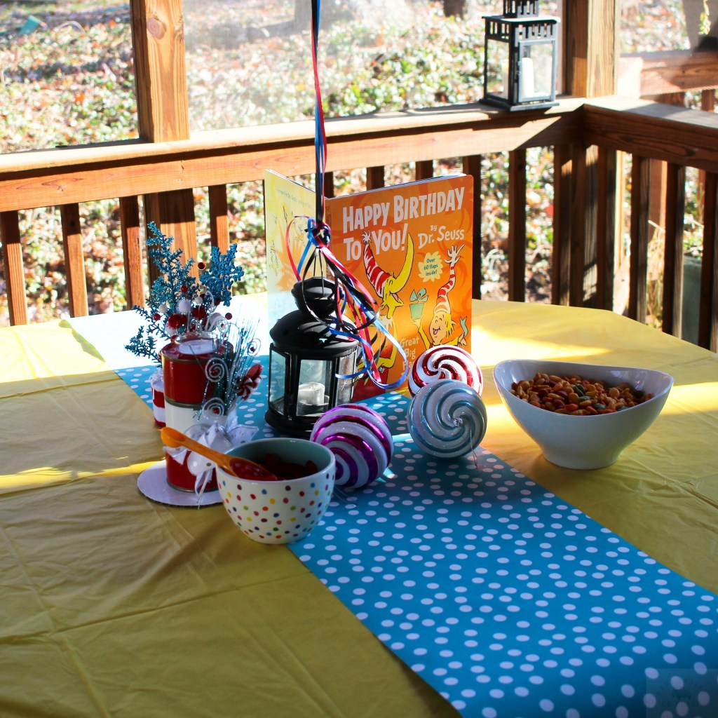 Dr. Seuss Themed Birthday Party-Dr.Seuss-inspired-centerpiece-DC-Motherhood Blog