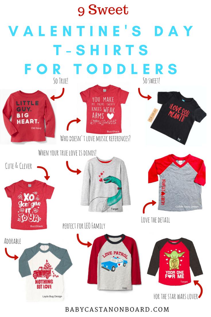 Valentine's Day T-Shirts for Toddlers | Valentine's Day Outfits for baby and toddler | Valentine's Day Outfits for Boy #fashion #baby #toddler #toddlerstyle #valentinesday | Valentine's Day Shirts for Toddlers by top US mommy blogger Baby Castan on Board