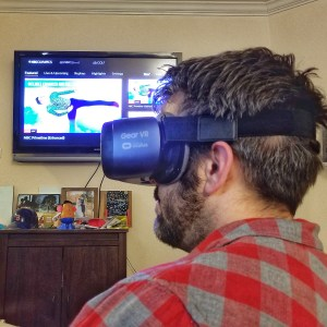 Watching the Olympics with Intel True VR by popular DC lifestyle blogger Baby Castan on Board