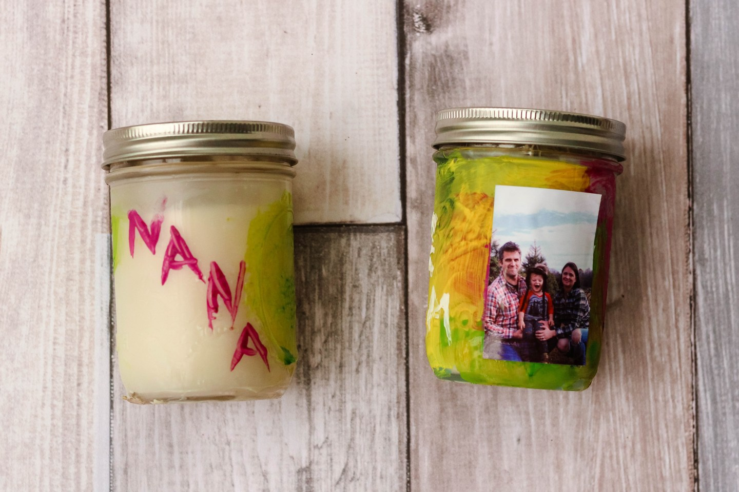 An Easy Personalized Candle Gift That Toddlers Can Make featured by popular DC mommy blogger Baby Castan on Board