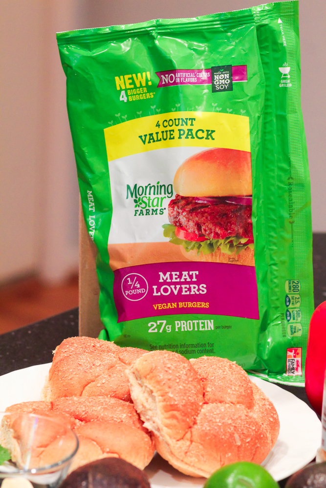 MorningStar Farms Meat Lovers Burger for Meatless Monday by Popular DC Mommy Blogger Baby Castan on Board
