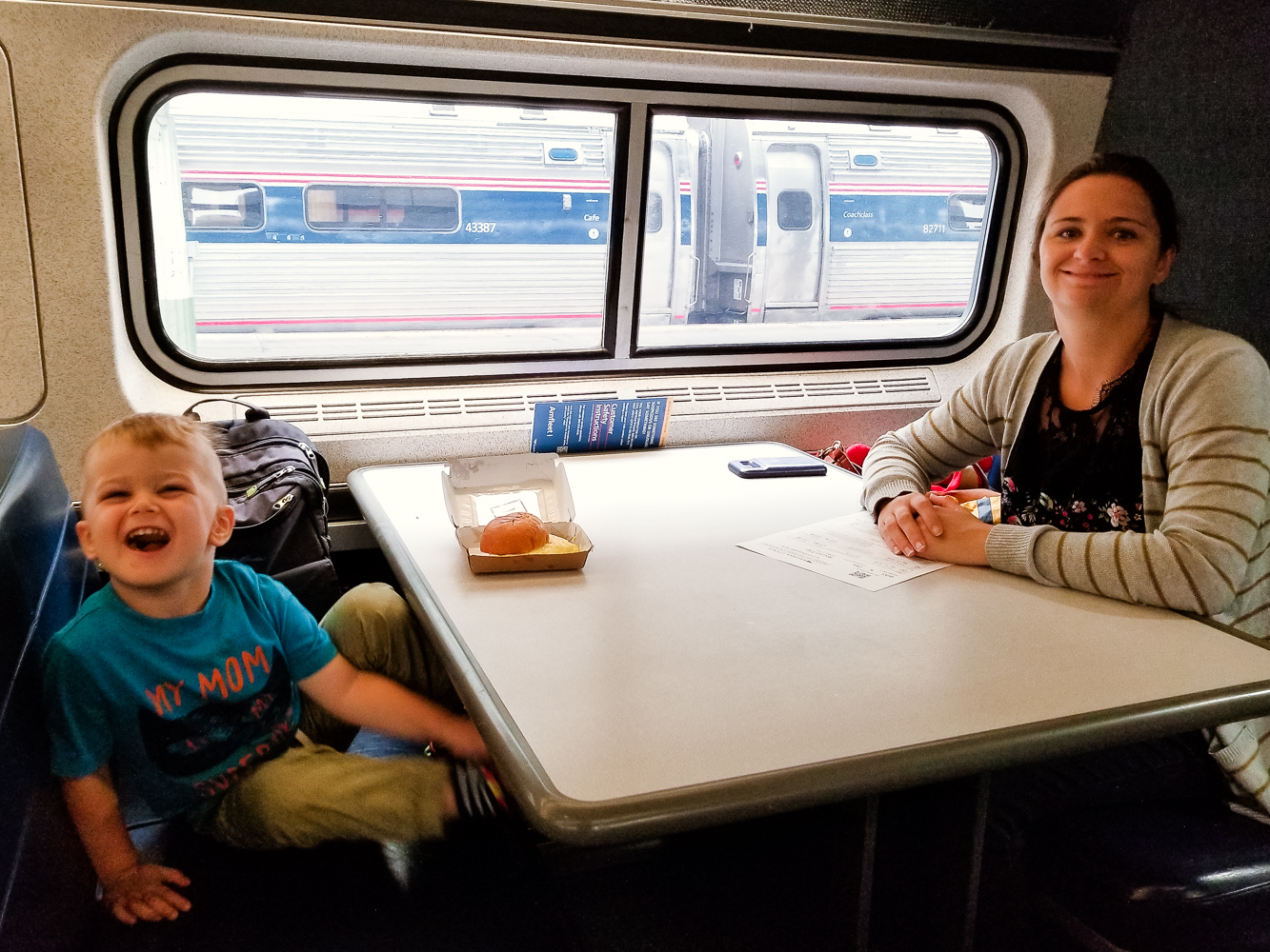 Train travel with a toddler_toddler on a train