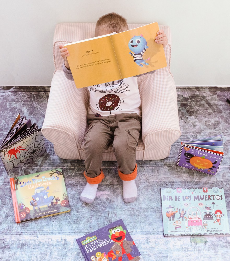 The Best Halloween Books for Toddlers featured by top DC mommy blogger, Baby Castan on Board