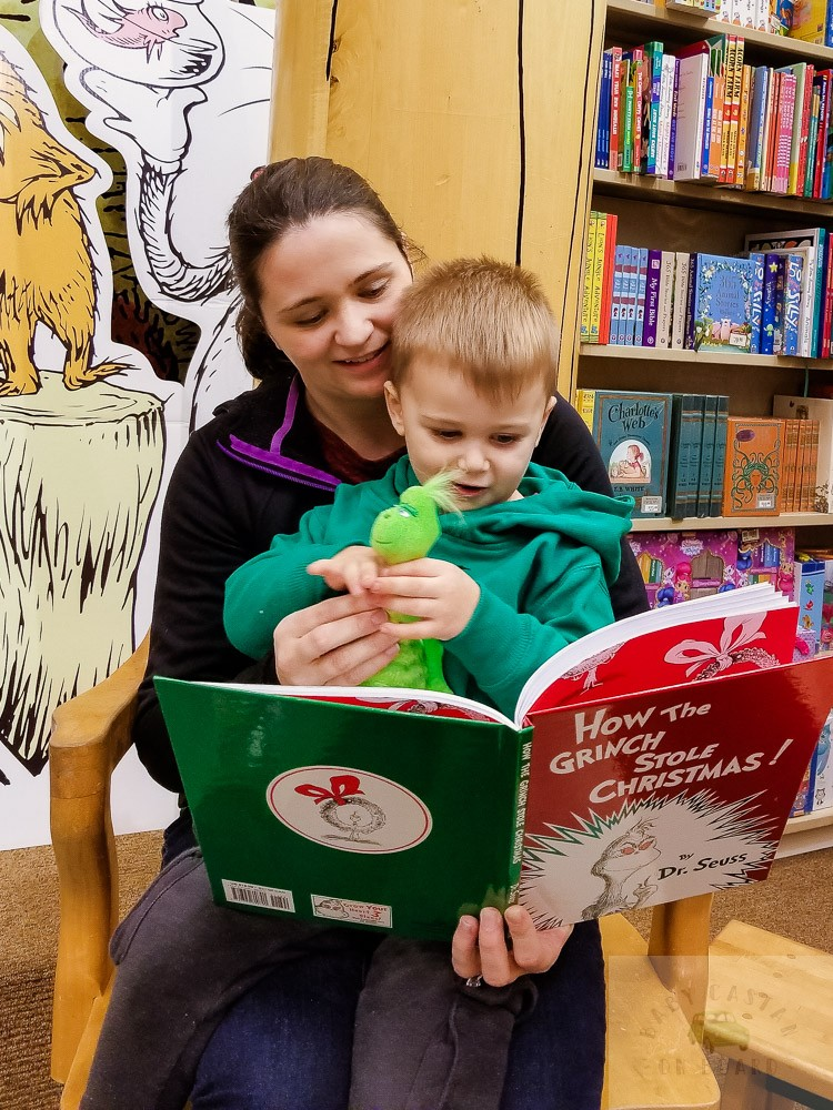 Our Favorite Christmas Books for Toddlers featured by top Washington DC mommy blog, Baby Castan on Board: the Grinch