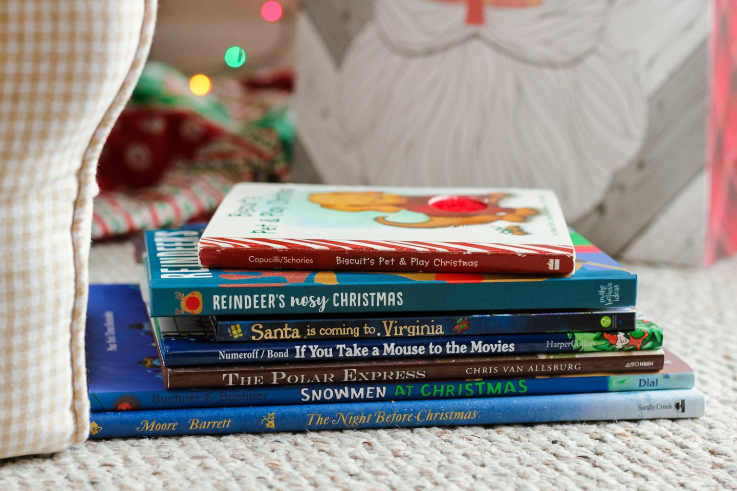 Our Favorite Christmas Books for Toddlers featured by top Washington DC mommy blog, Baby Castan on Board