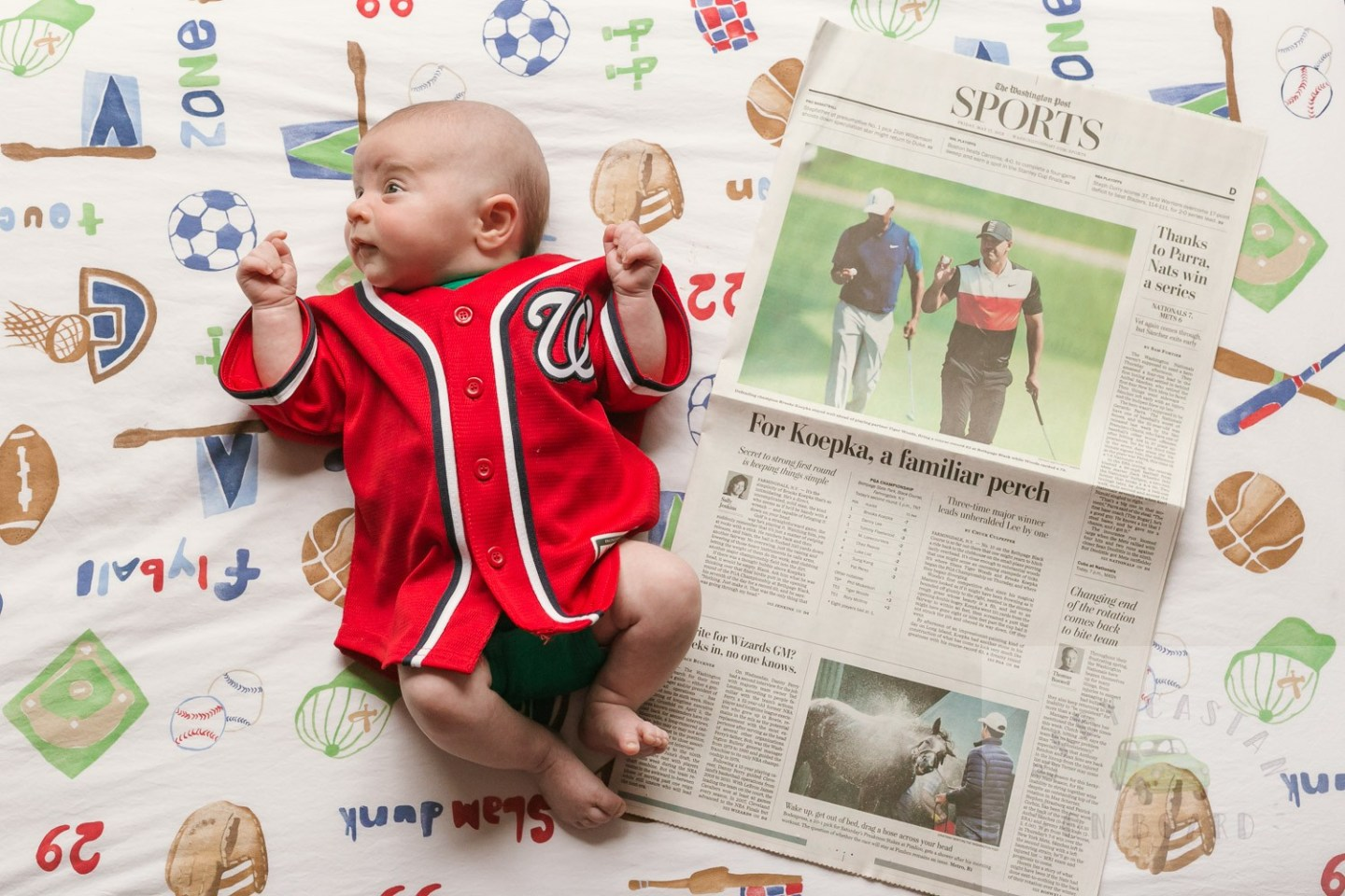 Nolan's One Month Old Baby Update featured by top US mom blogger, Baby Castan on Board