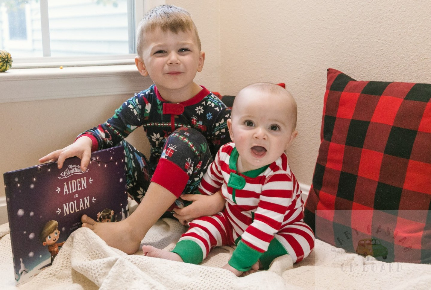 Cute Holiday Pajamas for Siblings featured by top US mom blog, Baby Castan on Board