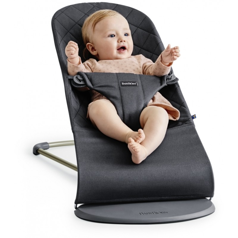 BabyBjorn Bouncer Bliss. Cotton - Anthracite   Baby Central HK