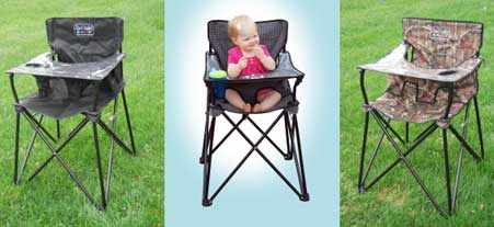 baby camping high chair wood lounge outdoor ciao portable review chattel color options
