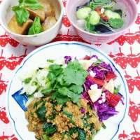 【ワンコインデトックスランチ!】お豆腐キーマカレーの玄米丼