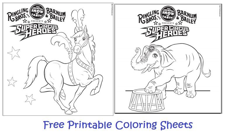 National Circus Day ~ Free Printable Coloring Sheets