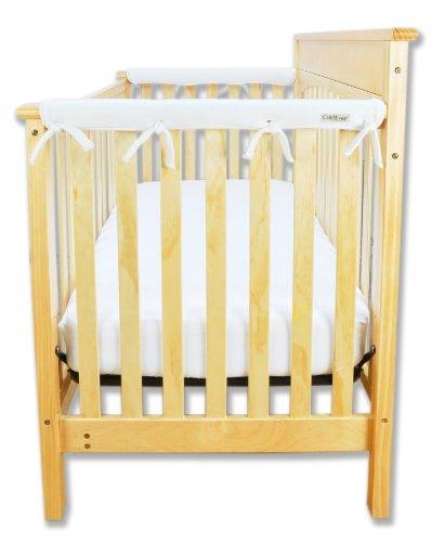 Trend Lab Fleece CribWrap Rail Covers for Crib Sides Set of 2 White Narrow for Crib Rails