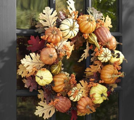 potterybarn fall wreath