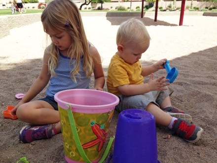 our kids in the sandbox