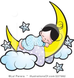 sleeping sleep clipart baby diaper clip bed illustration wake hours go