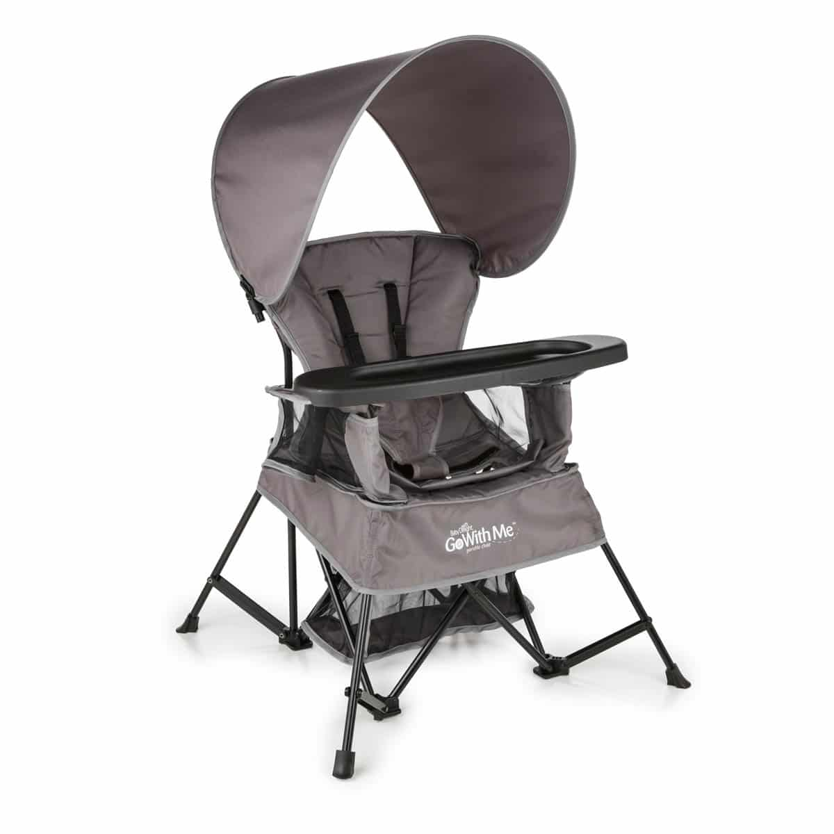 baby camping chair ergonomic video go with me gray delight inc