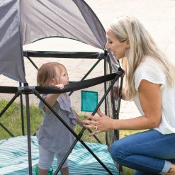 Go With Me Eclipse Portable Playard Mom and Baby
