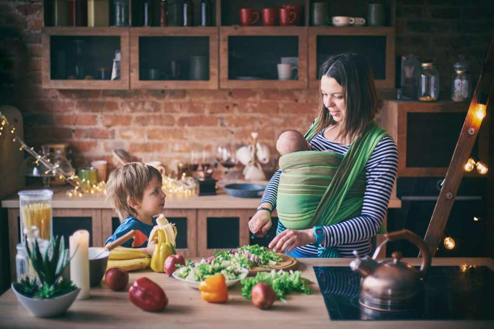 Cooking with newborn