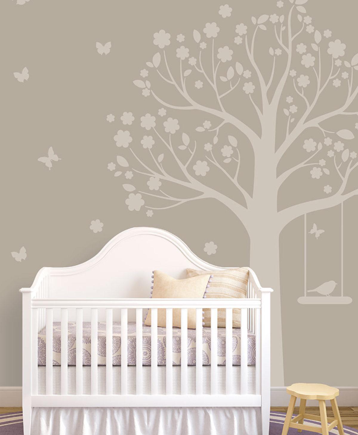 Compra carta da parati tortora per camerette. L Albero Di Moritz Tortora Baby Interior Design Wallpaper