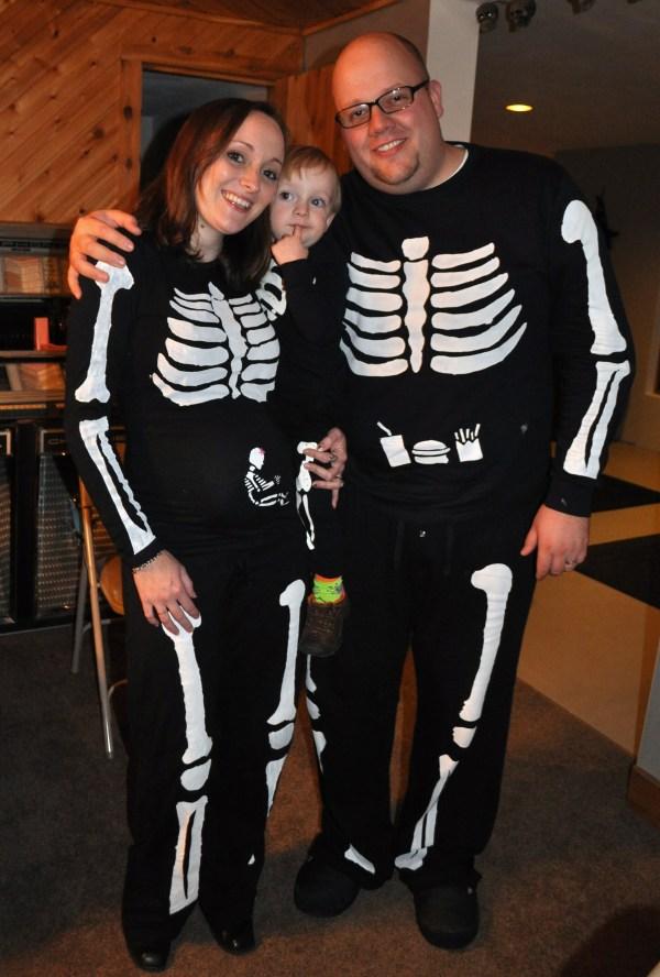 Make Pregnant Skeleton Costume Halloween