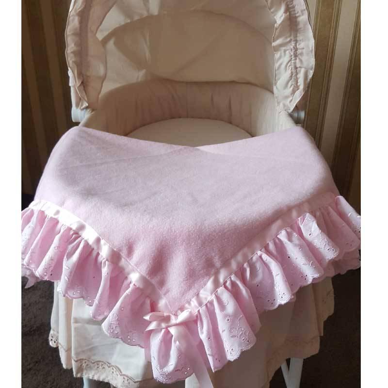 Baby deken broderie naam en geboorte datum  Kraamgeschenk