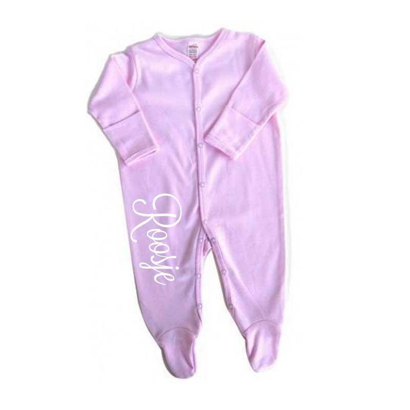 Pyjama bedrukt met naam  Kraamgeschenk kopen  Baby Drukwerk