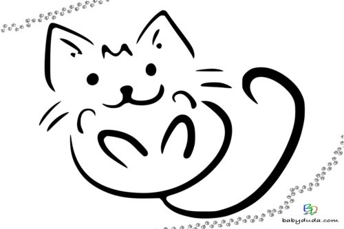Ausmalbilder Katzen & Kätzchen - Katzenvorlagen BabyDuda