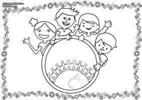 Ausmalbilder Kindertag   Malvorlage Kindermotiv   BabyDuda ...
