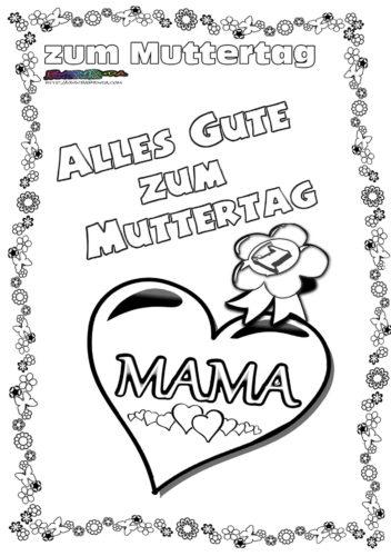 Muttertag Ausmalbild Amp Malvorlage Gru Mit Herz BabyDuda