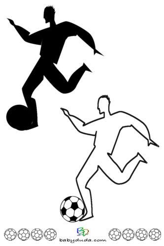 Fuball Scherenschnitt  Silhouette Fuballspieler