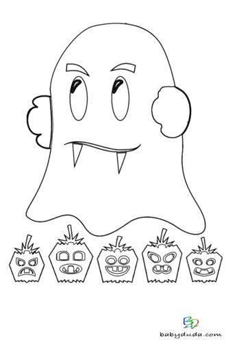 Malvorlagen Halloween Geist - Ausmalbilder