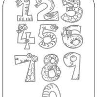 Zahlen Zum Ausdrucken 1 10