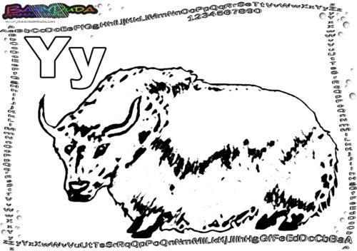 ABC Buchstaben - Malvorlage Tiere zum Ausmalen BabyDuda