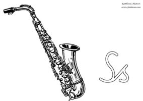Malvorlagen Saxophon   Coloring and Malvorlagan