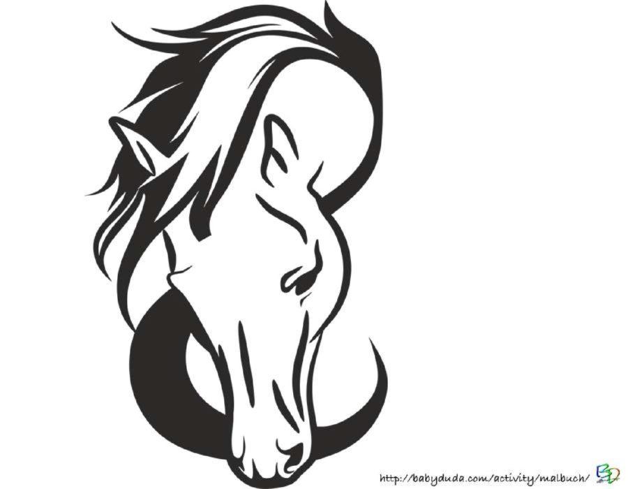 Ausmalbilder Pferdekopf Malvorlagen Coloring and Malvorlagan