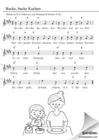 Backe, backe Kuchen - Singen mit Kindern | BabyDuda ...
