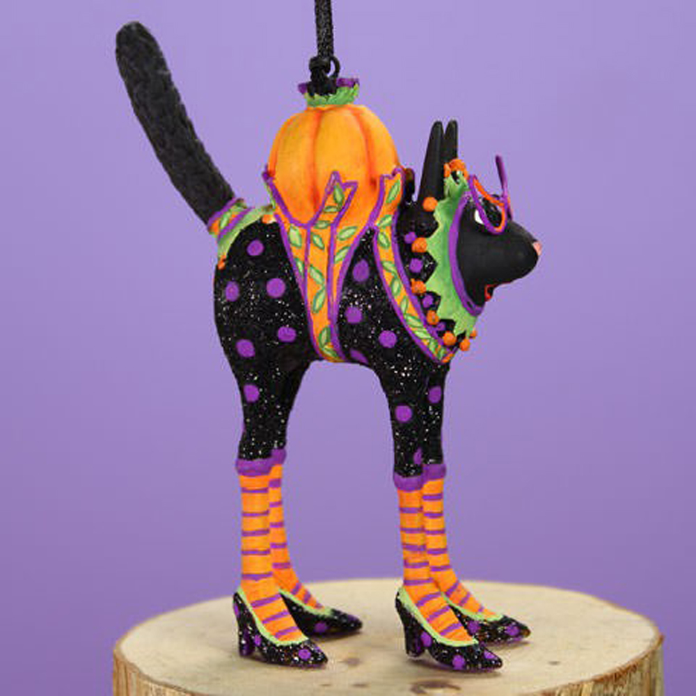 Patience Brewster Halloween Mini Black Cat Ornament